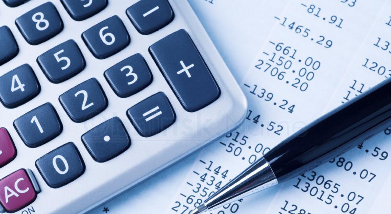 фотография калькулятора и счет